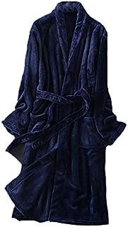 ゆめパジャマ ツルツルフランネルガウンフリース Lサイズ XLサイズ グレー ネイビー メンズ レディース ホテル 冬 起毛 ナイトウェア あったかい もこもこ やわらかい 部屋着 秋 男女兼用 おそろい ペアルック ペア