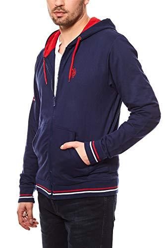 U.S. POLO ASSN. Hommes Sweat Jacket Hoodie Veste à Capuche Blue Pull à Capuche, Taille:XXL