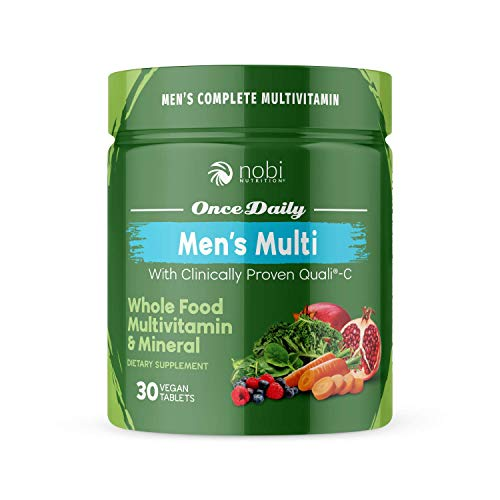 One Daily Multivitamin for Men - with Whole Food Vitamins - Immune Support with Clinically Proven Vitamin C, Vitamin D, Zinc - Premium Vegan Mens Vitamins - Natural Minerals & Extracts (30 ct)