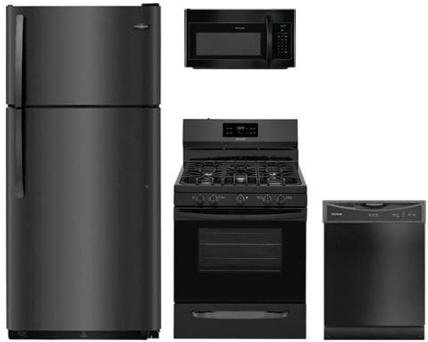 4-Piece Black Kitchen Package FFTR1821TB 30
