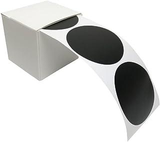 100 pegatinas de pizarra, etiquetas redondas, de vinilo, pegatinas de pizarra en práctica caja dispensadora