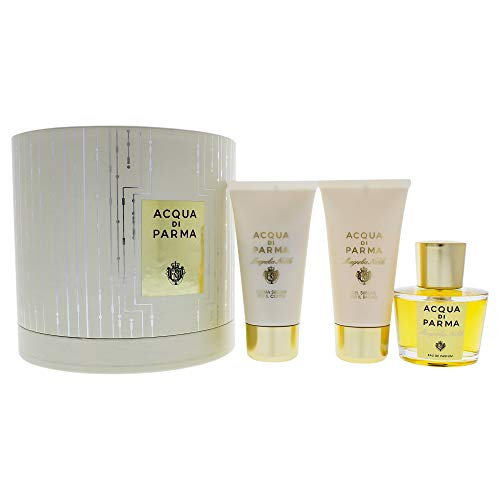 Acqua Di Parma Magnolia Nobile 3 Piece Gift Set Eau De Parfum Spray, Shower Gel & Body Cream for Women