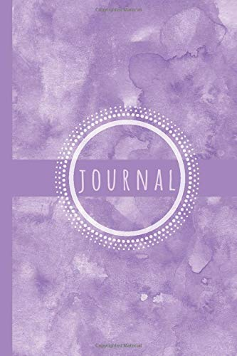 Lavender Journal: Lavender Notebook: Watercolor Lavender Journal Notebook Lined Paper To Write In For Women: Lavender Journal Themed Lined Journal Notebook 120 Pages 6' x 9' (Journals & Notebooks)