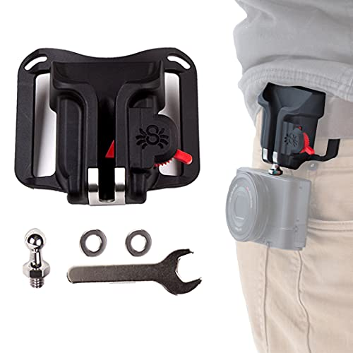 Spider Holster - BlackWidow Camera Holster + Pin- Carry Your Light Weight Camera from Your Waist Belt!