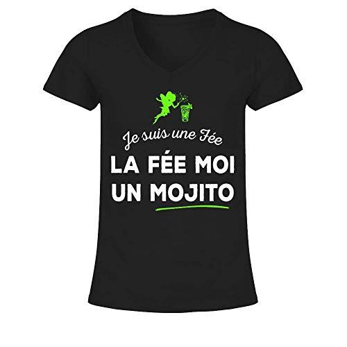 T-shirt femme Je suis Une fée : La Fée Moi Un Mojito