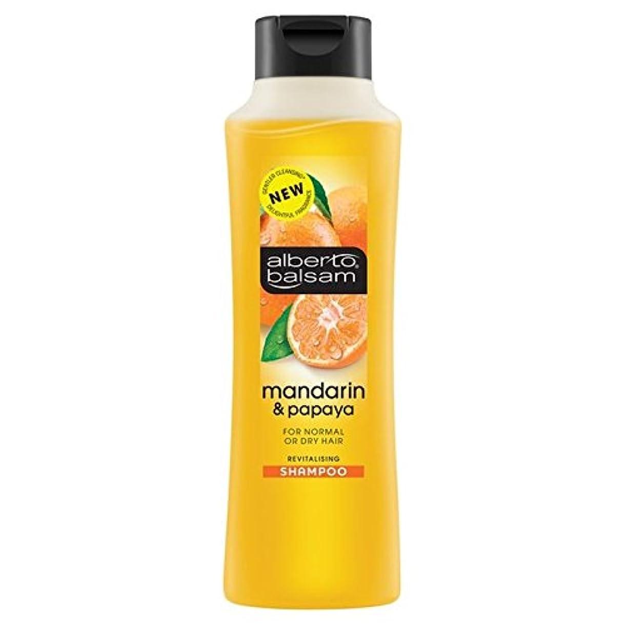 艶釈義コンパスAlberto Balsam Mandarin & Papaya Shampoo 350ml - アルベルト?バルサムマンダリン&パパイヤシャンプー350ミリリットル [並行輸入品]