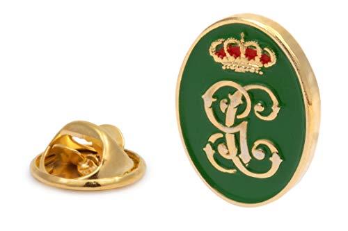 Gemelolandia | Pin de Traje del Escudo de la Guardia Civil Verde y Dorado 18mm | Pines Originales Para Regalar | Para las Camisas, la Ropa o para tu Mochila | Detalles Divertidos