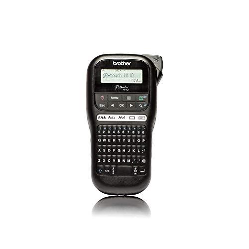 Brother PT-H110 Beschriftungsgerät (für 3,5 bis 12 mm breite TZe-Schriftbänder, bis zu 20 mm/Sek. Druckgeschwindigkeit)