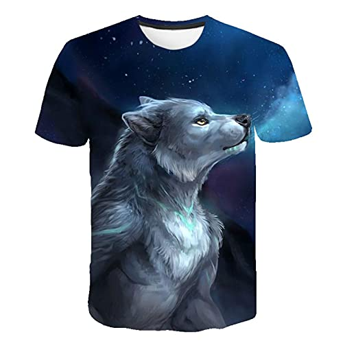 Astemdhj T-shirt men Short sleeve Summer Latest Animal Wolf T Shirt Men 3D Print Cute Funny Fashion O-Neck Casual Short Sleeve Harajuku Anime 4Xl Tx-5075