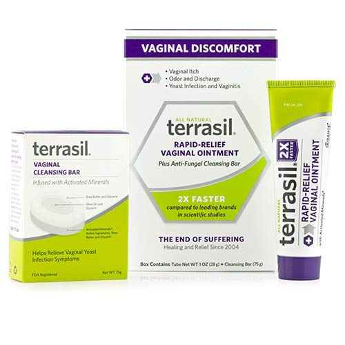 Rapid Relief Feminine Care Vaginal Ointment 28gm Tube & Cleansing Soap Natural for Yeast infections Vaginal Itch Odor Irritation Restores pH Balance by terrasil