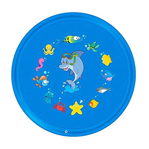 Outdoor Lawn Beach Sea Animal Inflatable Water Spray Kids Sprinkler Play Pad Mat Water Games Beach Mat Cushion Toys