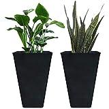 LA JOLIE MUSE Tall Planters 26 Inch, Flower Pot Pack 2, Patio Deck...