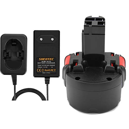 Shentec 9.6V 3.5Ah Ni-MH Batería para Bosch BAT048 BAT100 BAT119 2607335272 2607335461 Gsr 9.6VE-2 PSR 9.6VE-2 PSR960 23609 32609-RT Con Cargador