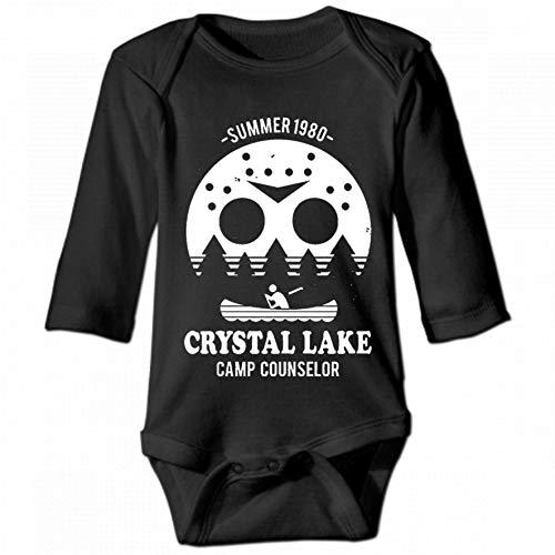 KioHp Camp Crystal Lake Unisex baby lange mouwen ronde hals Unisex kinderen klimjurk casual mode kinderen zwart