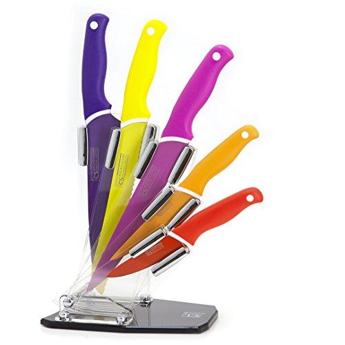 CS Kochsysteme Küchenmesser Set Messer Antihaft Klingen Messerblock Acrylglas