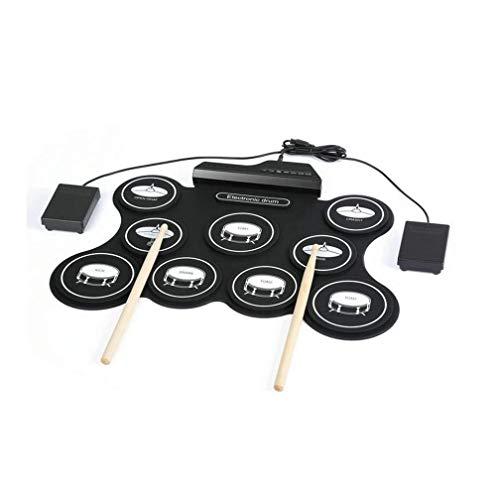 Equipo de batería eléctrica portátil de batería digital, USB tambor conjunto Kit...