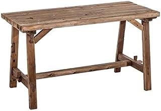 Tousmesmeubles Table de Repas rectangulaire Bois - FENYO - L 130 x l 62 x H 74 - Neuf