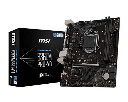 MSI B360M PRO-VD Intel Chipset Socket H4 LGA-1151 Desktop Motherboard
