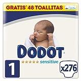 Dodot Pañales Bebé Sensitive Talla 1 (2-5 kg), 276 Pañales, Óptima Protección de la Piel de Dodot, Pack Mensual