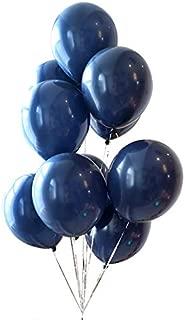Dark Blue Balloons 12 inch 50pcs Latex Party Balloons Navy Helium Balloons Baby Shower Balloons