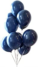 Brontothere Dark Blue Balloons 12 inch 50pcs Latex Party Balloons Navy Helium Balloons Baby Shower Balloons