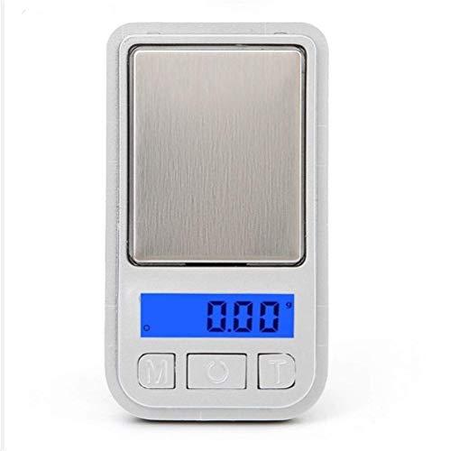 Balanza Micro Mini balanza de joyería Mini balanza 200g / 100g 0.01g Balanza Digital de Bolsillo Gramo de Oro Balanza electrónica de Peso (Color: 0.01gx 200g)