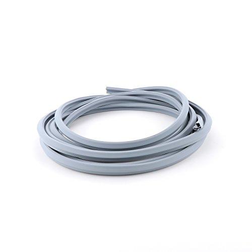 SECOTEC Stahlzargen-Dichtung | Türdichtung 5 m - ideal für eine Zarge | Tür-Anschlagdichtung | grau