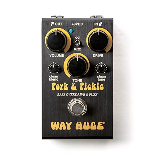 Way Huge Smalls Pork & Pickle Overdrive & Fuzz Guitar Effects Pedal (WM91)