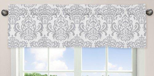 Sweet Jojo Designs Elizabeth Fenstervolant, Rosa, Grau und Weiß