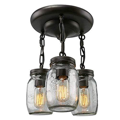 Kroonluchter vintage glazen fles glazen vaas hanglamp 3 lampen creatieve hanglamp
