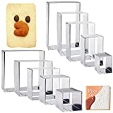 10PCS Rectangle Cookie Cutter Square Cookie Mold Stainless Steel Rectangle Biscuit Molds Square Pastry Molds Fondant Cake Cookie Cutter Set 1 Inch Depth