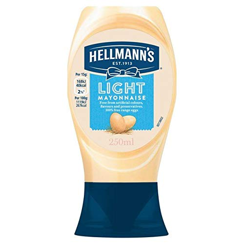 Hellmann's Squeezy In stock Mayonnaise Max 65% OFF 250ml Light