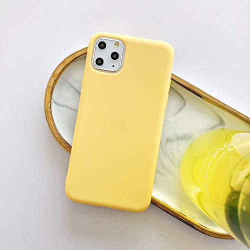 HUAI Funda protectora suave para iPhone 7plus, funda para teléfono móvil para X 8, 8 Plus, i6/6s Plus, XR XSMAX 11 Pro Max SE 2020 (color: amarillo, material: para iPhone 5, 5S SE)