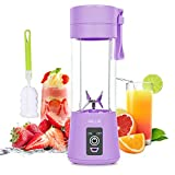 Portable Blender, Personal Blender for Shakes and Smoothies, Mini Juicer Cup USB Rechargeable for Travel