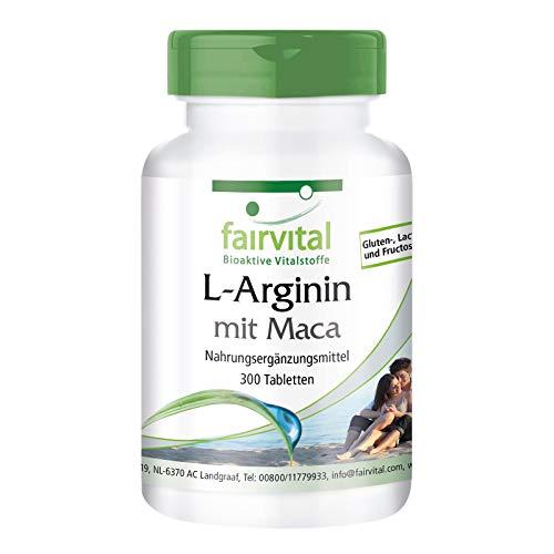 L-Arginin + Maca Plus - HOCHDOSIERT - mit Beta-Glucan, OPC und Zink - 300 Tabletten