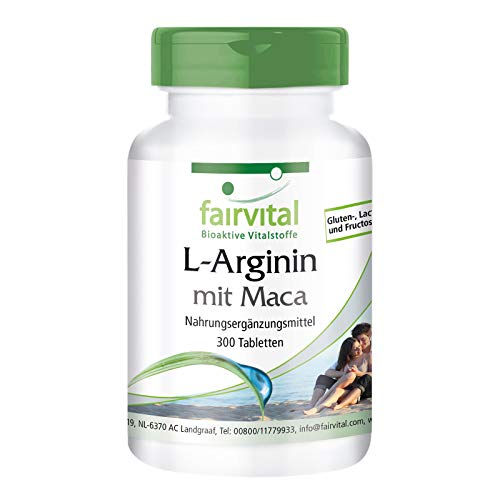 L-arginine with Maca - HIGH Dosage - 300 Tablets - with beta-glucan, OPC and zinc