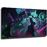 Póster artístico de la Liga Legends 61 x 91 cm (61 x 91 cm), diseño moderno para sala de estar, enmarcado y listo para colgar