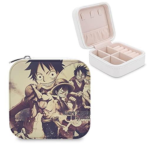 Anime LuffyJewelry - Caja de almacenamiento para joyas con compartimento para administración del hogar, viajes, pendientes de regalo, collar de moda
