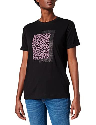 REPLAY W3506 Camiseta, Negro (098 Black), S para Mujer