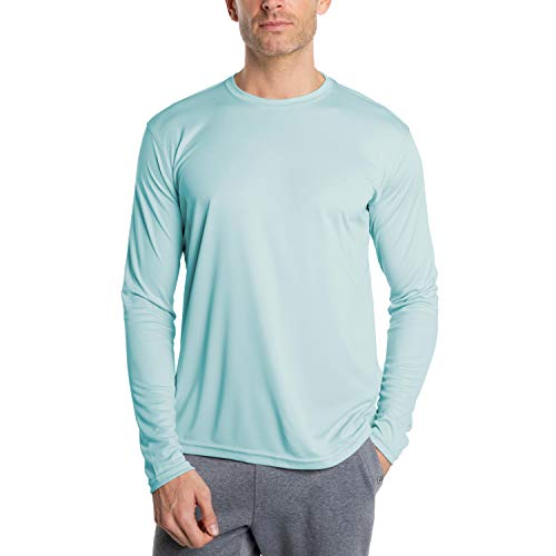 Vapor Apparel Men's UPF 50+ UV Sun Protection Outdoor Performance Long Sleeve T-Shirt X-Large Arctic Blue
