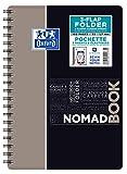 Oxford 400100862Nomadbook–Cuaderno espiral estudiantes 17,6x 25cm camisa integrada 160páginas a rayas, 7mm Polypro colores aleatorios