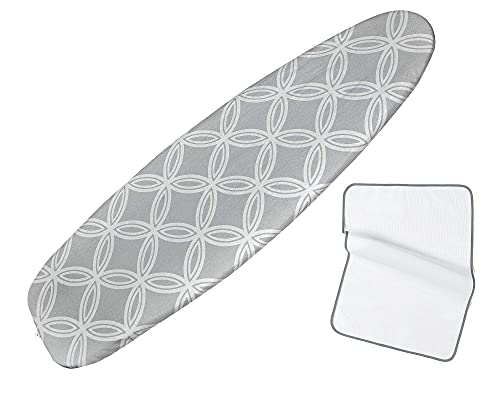 Ironing Board Cover and pad extra thick,medium and large iron boards up to 135cm length 45cm width