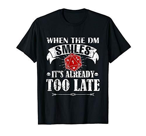DND When DM Game Master Smiles Tabletop RPG Shirt