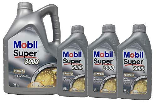 Aceite Lubricante Motor Sintético - Mobil Super 3000 X1 5W-40, pack 8 litros