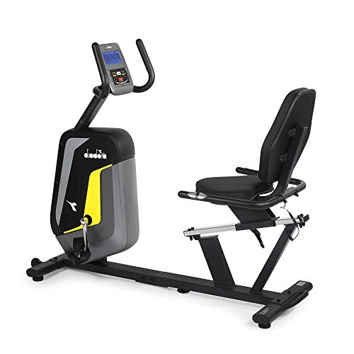 Diadora Cyclette Recumbent Dakota Regolazione dello Sforzo Elettromagnetico e 22 Programmi...