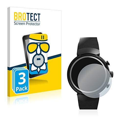 BROTECT Protector Pantalla Cristal Mate Compatible con ASUS ZenWatch 3 1.39' Protector Pantalla Anti-Reflejos Vidrio, AirGlass (3 Unidades)