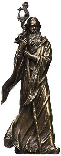 UNICORN STUDIO 11.75 Inch Cold Cast Bronze Color Merlin Figurine Statue Home Decor
