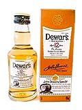 Botellita miniatura whisky Dewar's White Label 12 Años