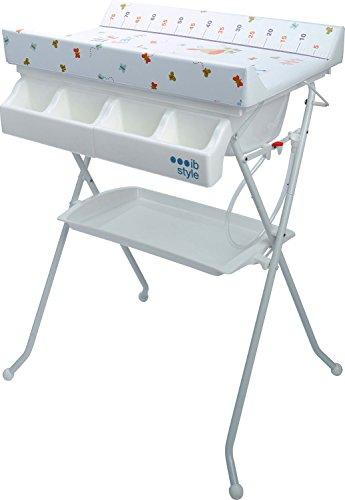IB-Style - Table à langer pliable avec baignoire - Commode avec matelas à langer| Décor My little Farm Colors