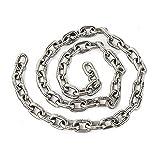 DARENYI Cadena de acero inoxidable de 1,5 m de 5 mm de metal para colgar, cadena de acero inoxidable resistente para cadena de perros, maceta colgante, silla, bolsas de perforación, etc
